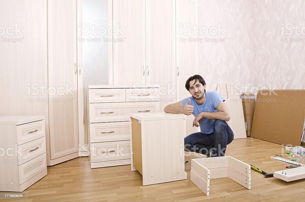 carpenters of furniture stock photo