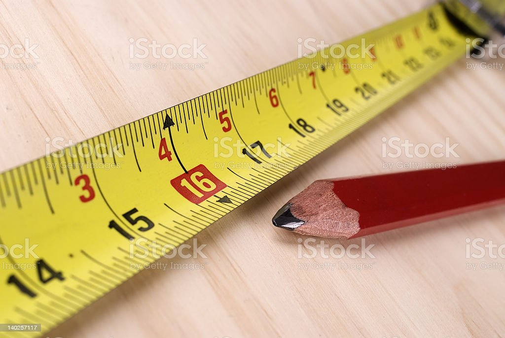 Carpenters tape measure. royalty-free stock photo