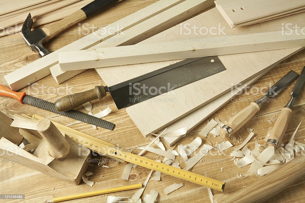 carpenter's tools royalty-free stock photo