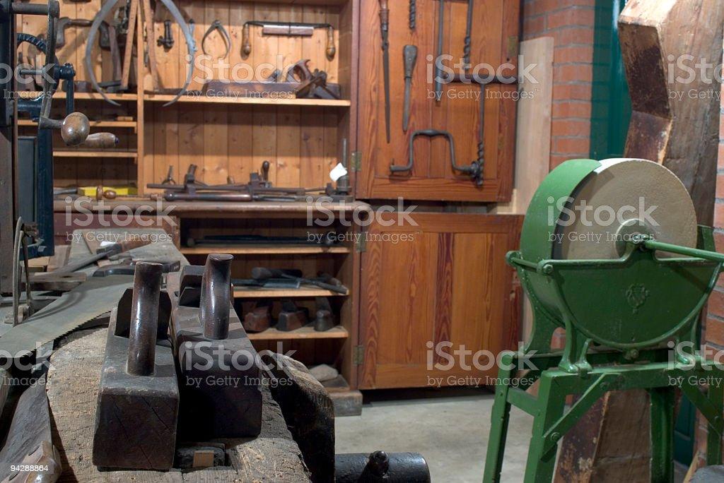 Carpenters workshop royalty-free stock photo