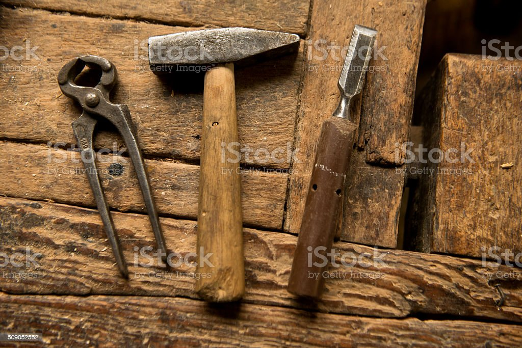 carpentry tools stock photo