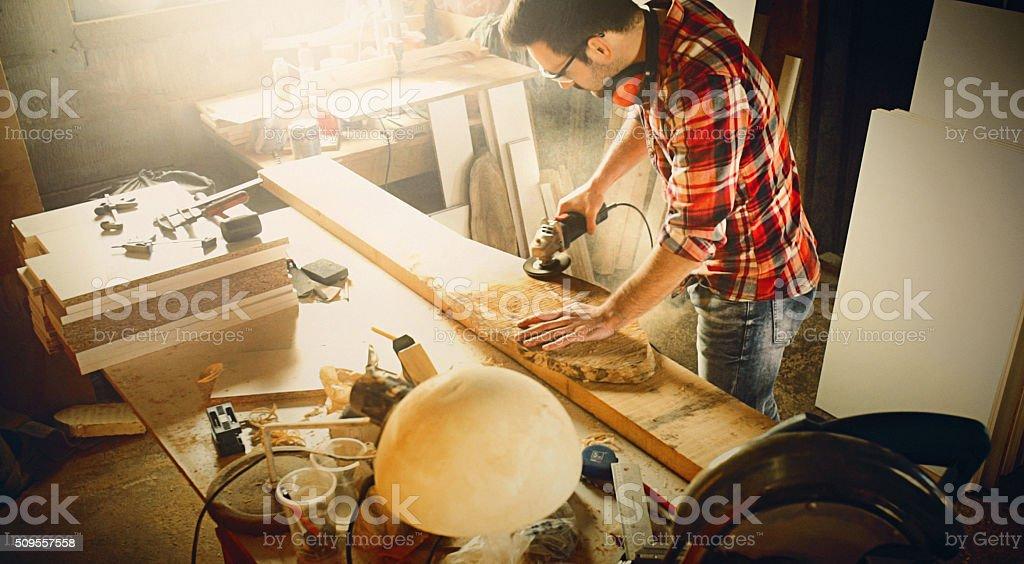 Carpentry work. stock photo