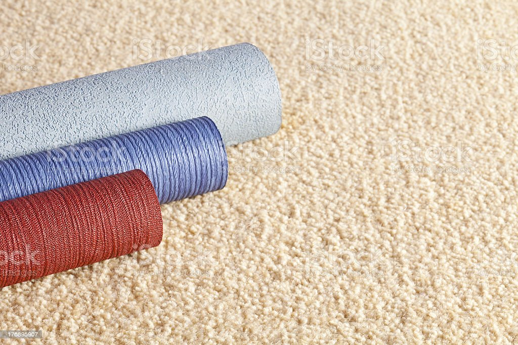 Carpet and Wallpaper Samples with Copy Space royalty-free stock photo