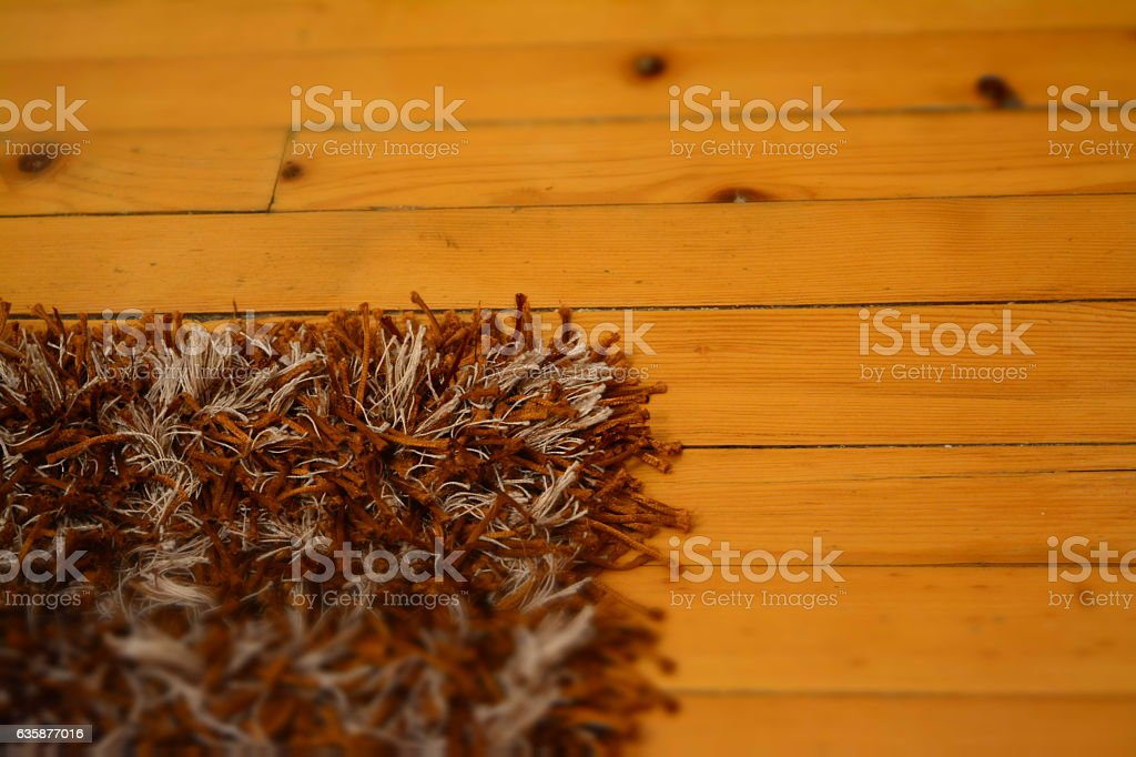carpet and wooden floor stock photo