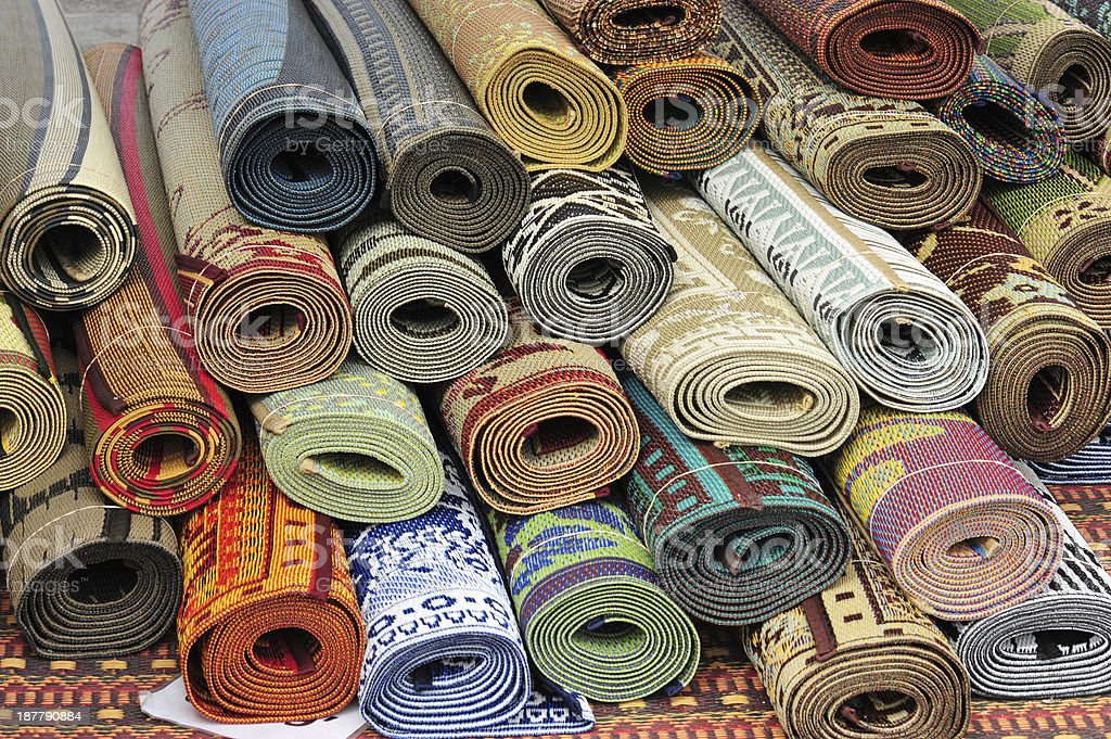 Carpet Bazaar stock photo