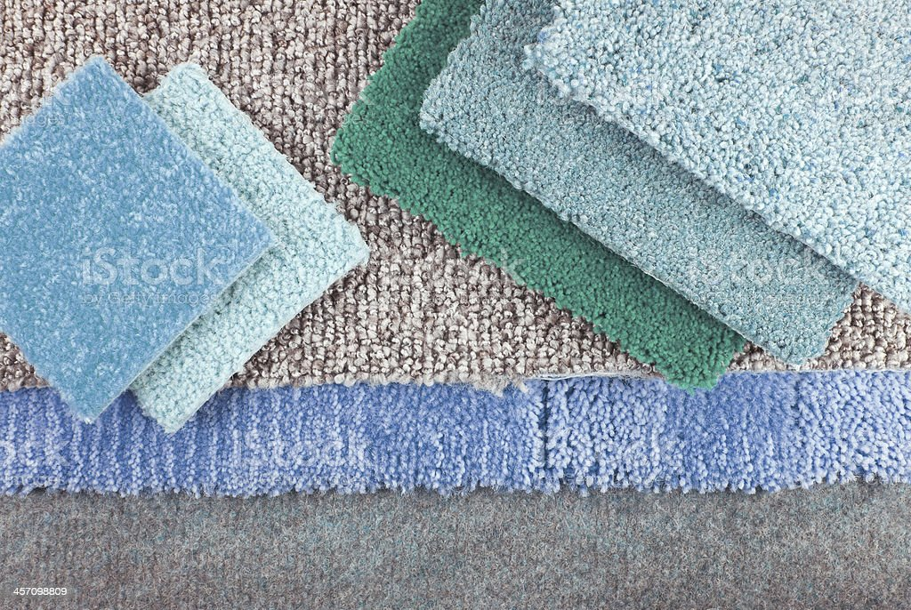 carpet choice for interior stock photo