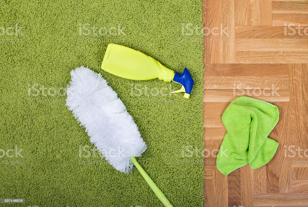 Carpet cleaning equipment stock photo