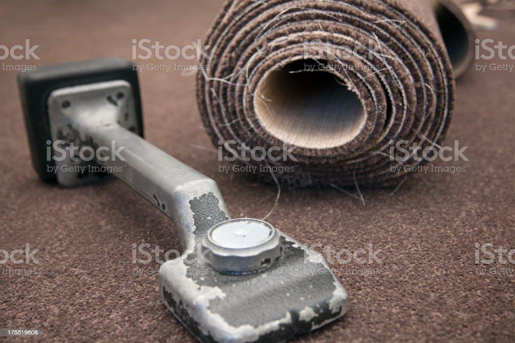 Carpet Fitting stock photo