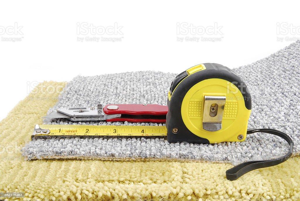 carpet fitting royalty-free stock photo