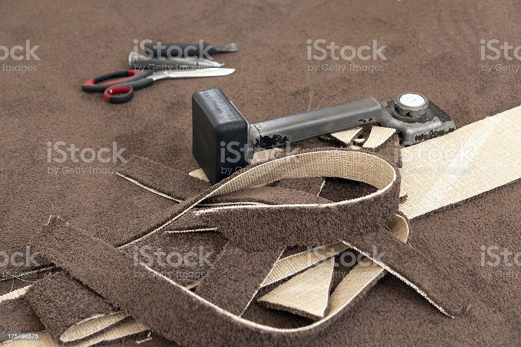 Carpet Fitting Tools stock photo