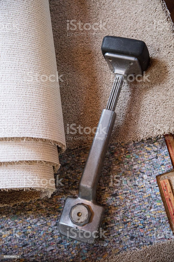 Carpet Knee Kicker stock photo