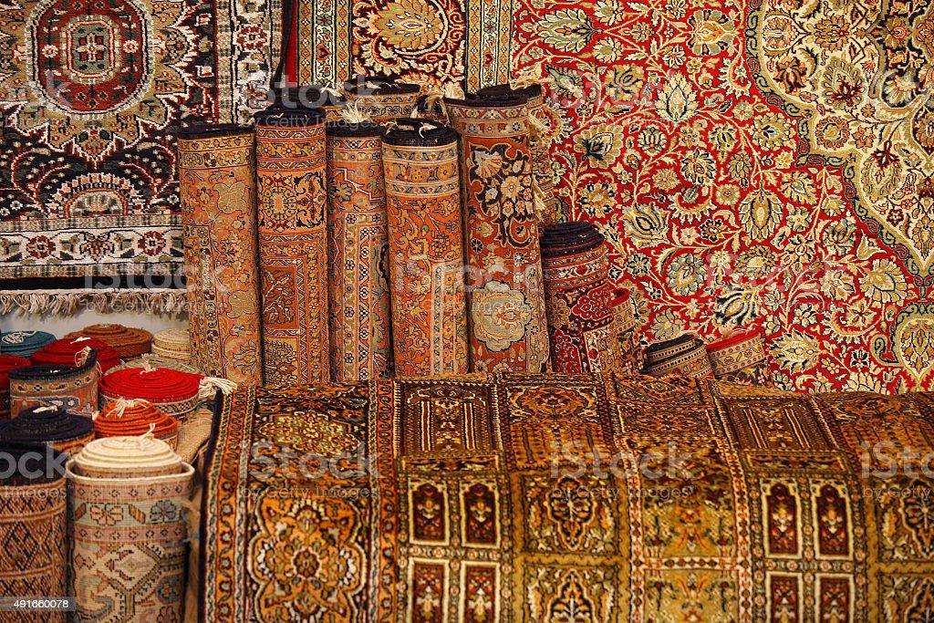 Carpet market stock photo