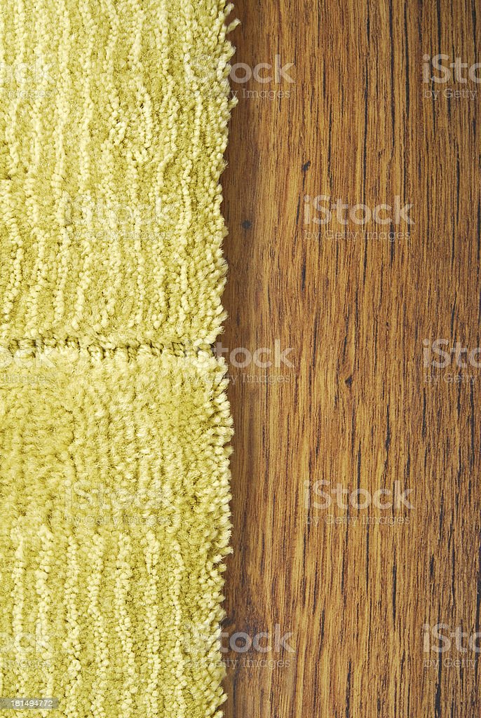 Carpet On Laminate Floor royalty-free stock photo