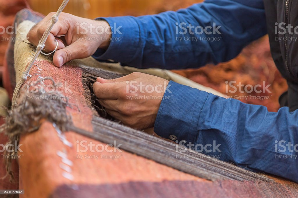 Carpet repair work. stock photo