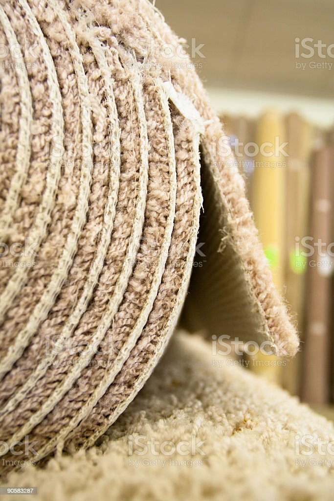 Carpet Rolls in warehouse royalty-free stock photo