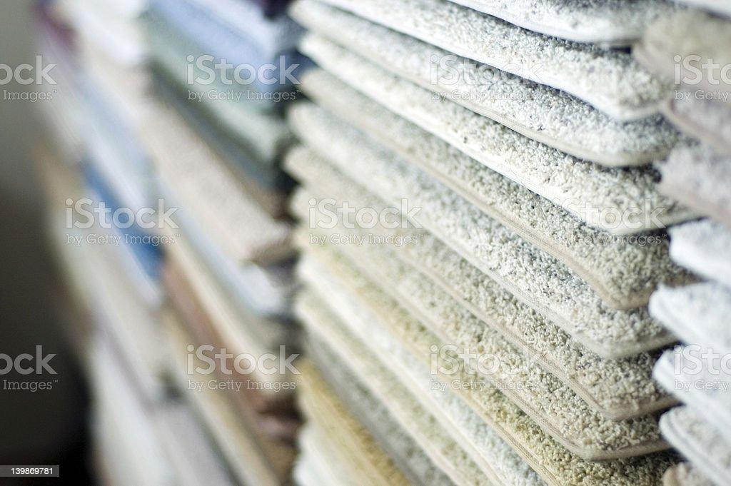 Carpet Samples 3 stock photo