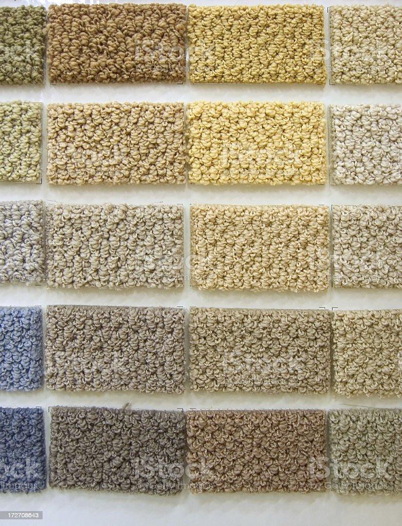 Carpet samples vertical royalty-free stock photo