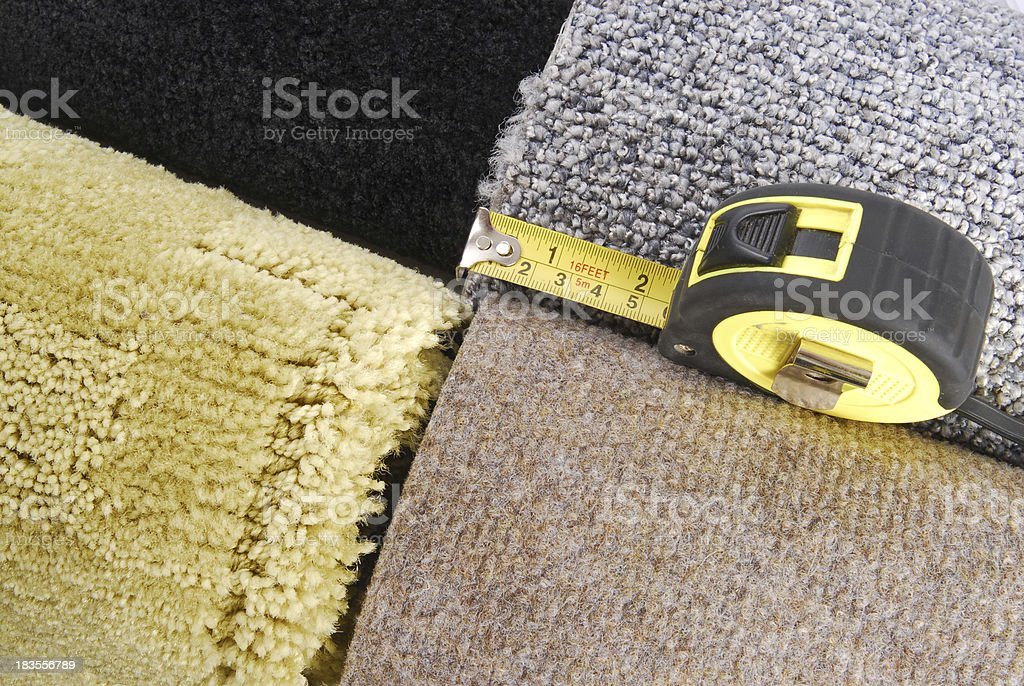 carpet selection and tape royalty-free stock photo