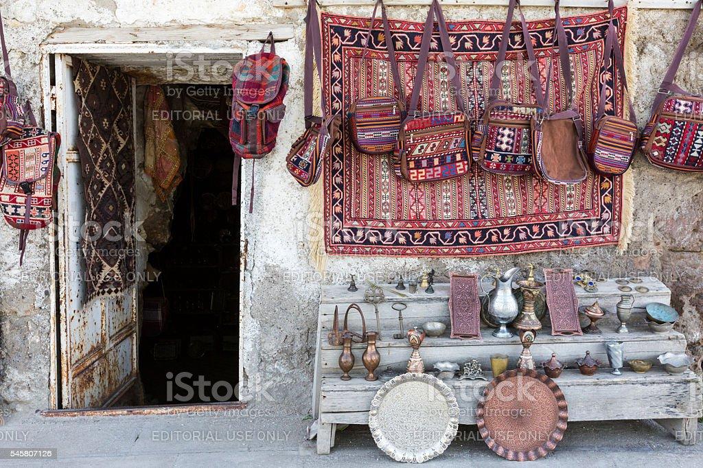 Carpet shop. stock photo