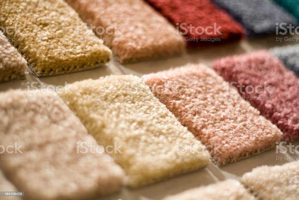 Carpet Squares stock photo