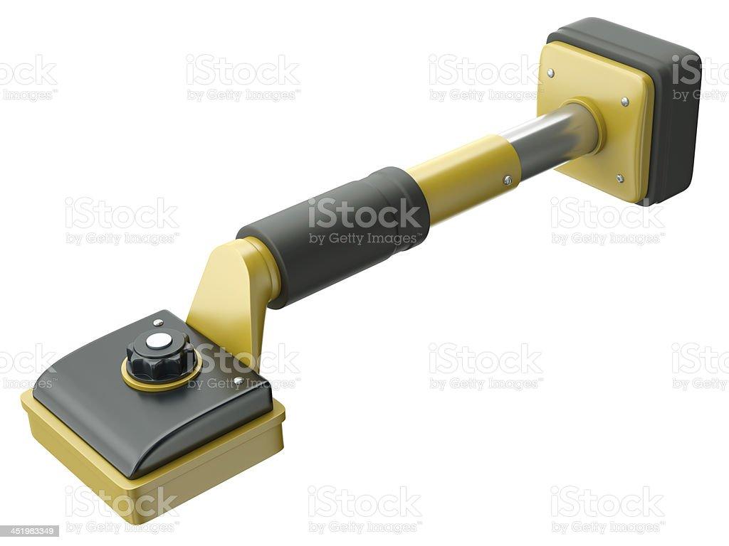 Carpet stretcher, also knee kicker, essential carpenter's tool stock photo