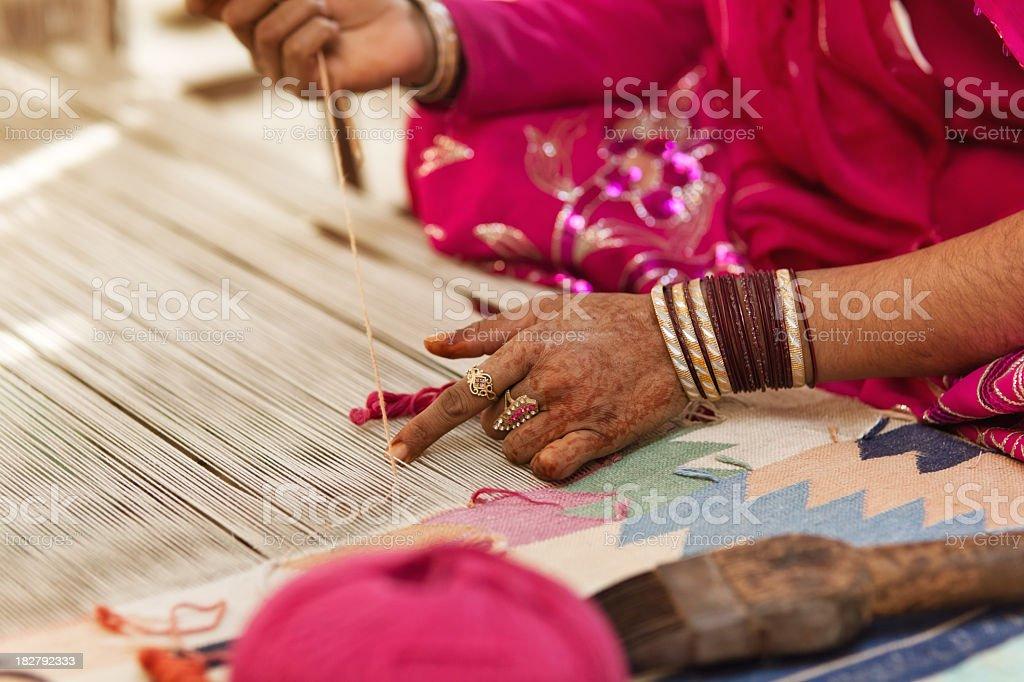 Carpet weavers royalty-free stock photo