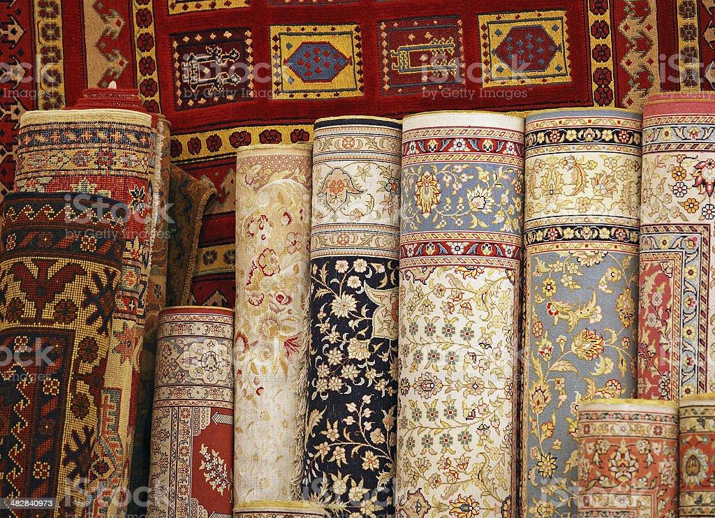 Carpet world stock photo