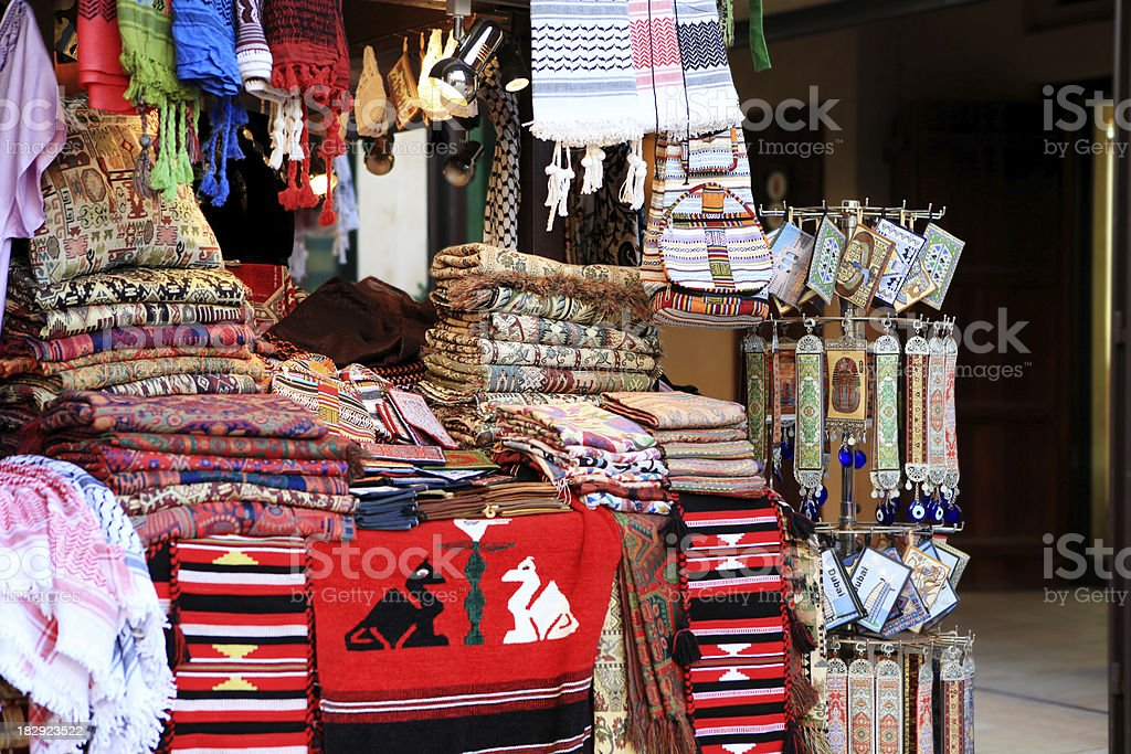 carpets & rugs at bazaa market stock photo