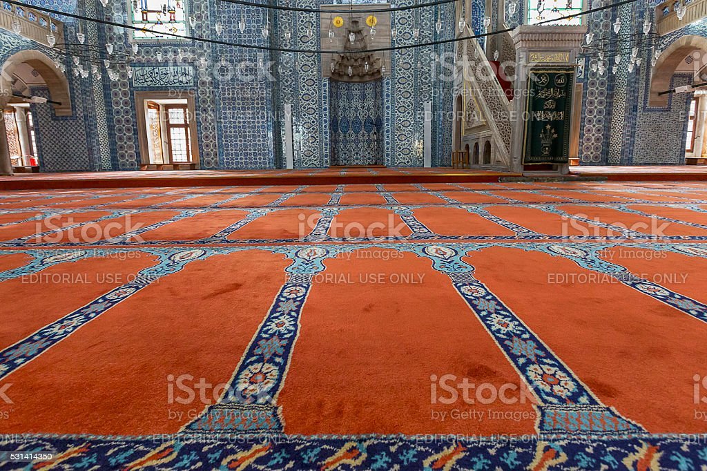 Carpets and Tiles of the Rustem Pasha Mosque stock photo