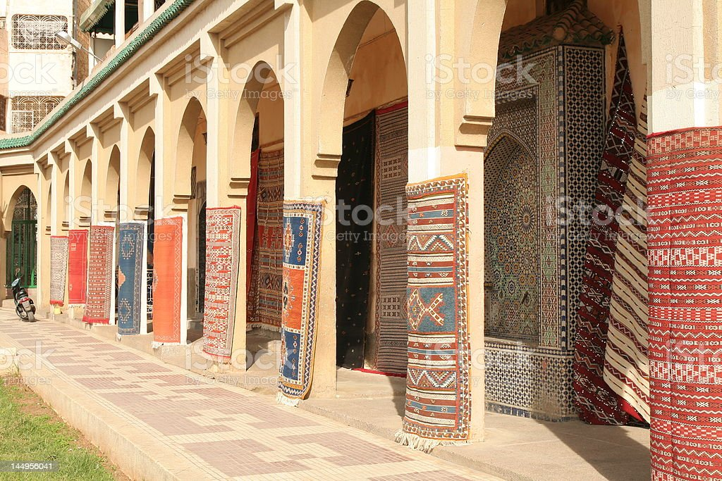 Carpets in Mekness stock photo