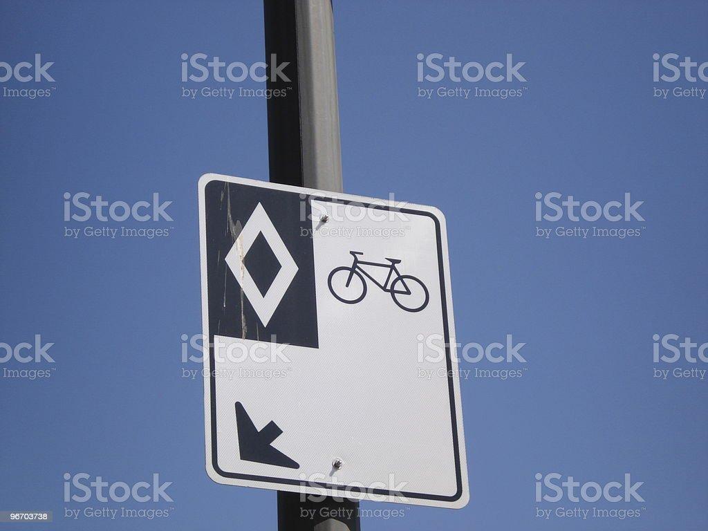 carpool bike road sign royalty-free stock photo
