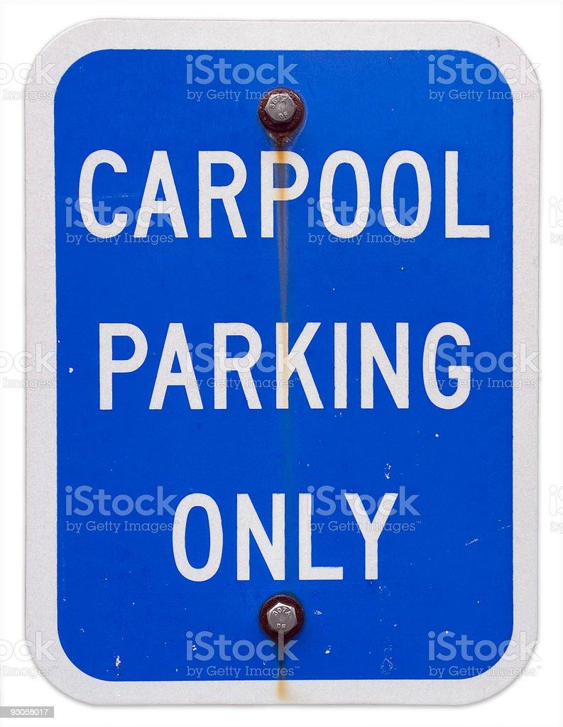 Carpool Parking Sign royalty-free stock photo