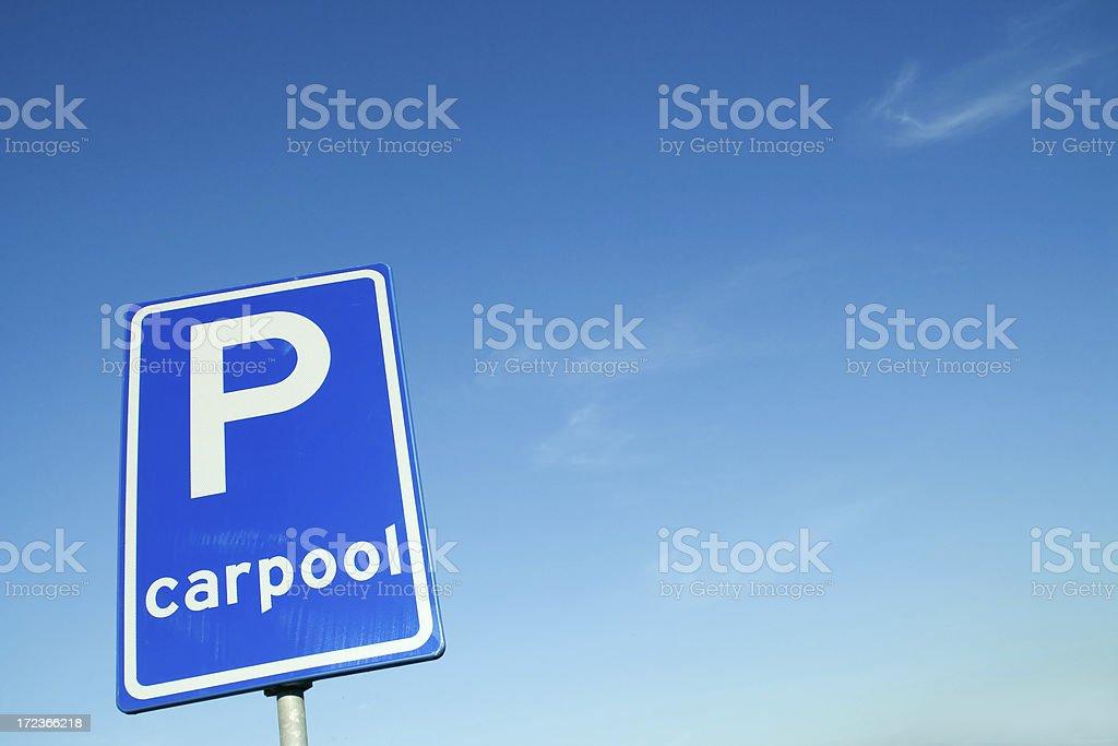 Carpool sign # 3 royalty-free stock photo
