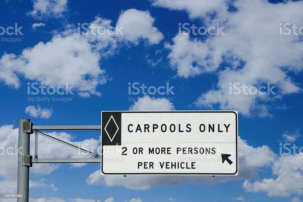 carpool sign stock photo