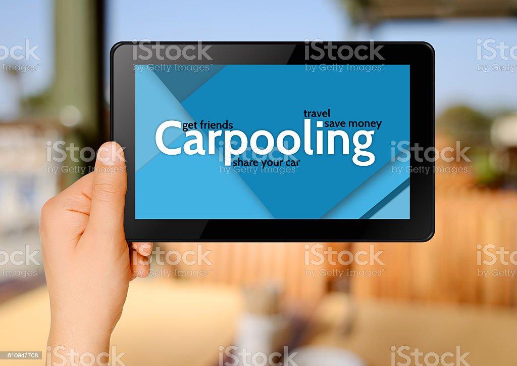 Carpooling internet concept stock photo