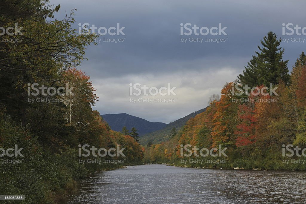 Carrabassett river in the fall royalty-free stock photo