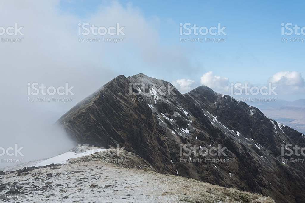 Carrantuohill in Winter, Ireland royalty-free stock photo