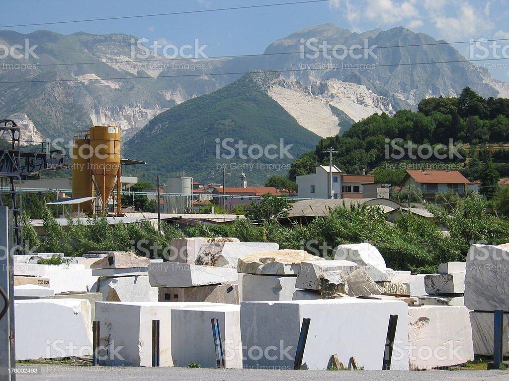 Carrara Avenza - Italia stock photo