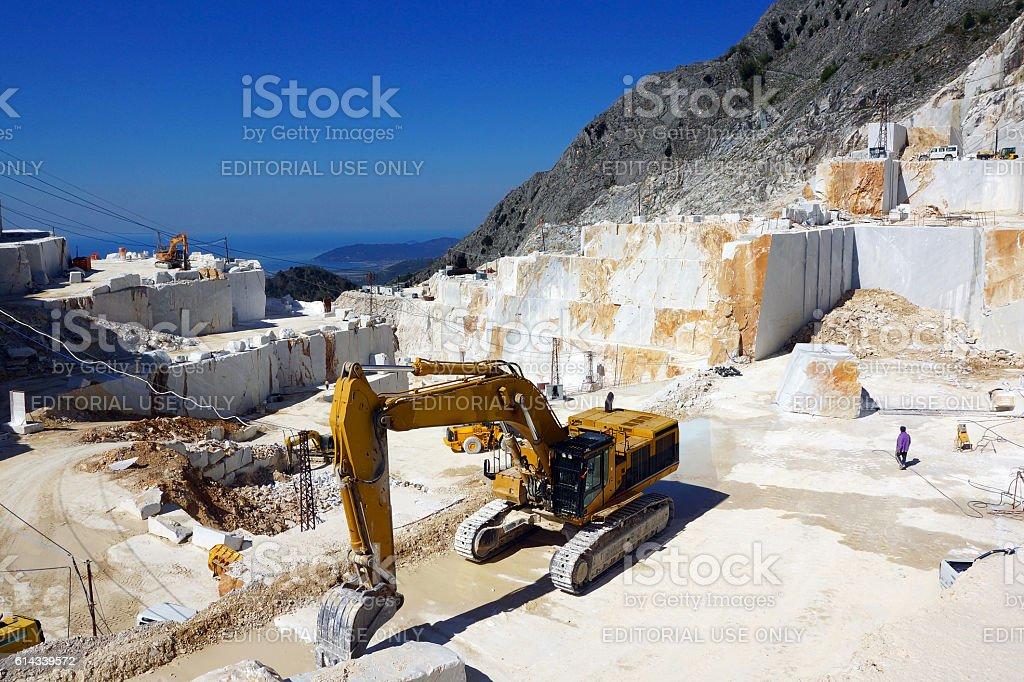 Carrara Marble Quarry in Italy stock photo
