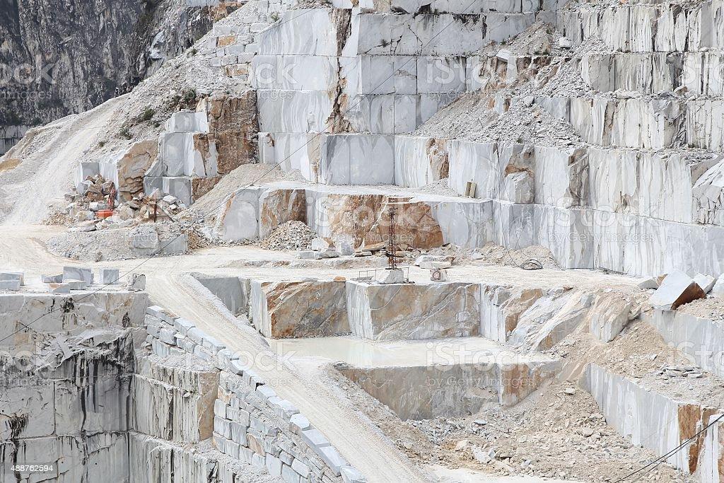 Carrara marble quarry stock photo