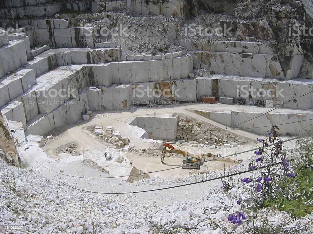 Carrara quarry stock photo