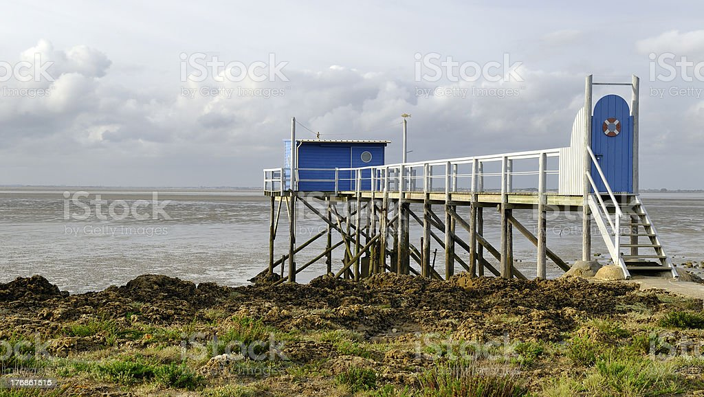 Carrelet at Fouras in France stock photo