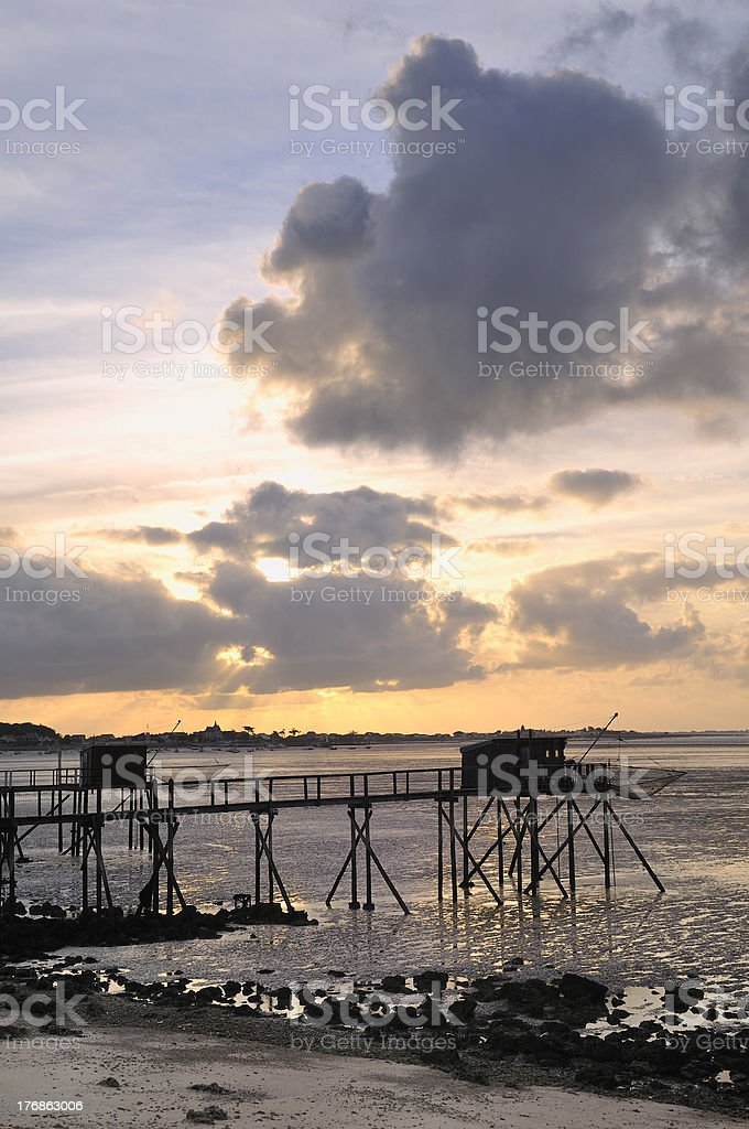 Carrelet at Fouras in France royalty-free stock photo