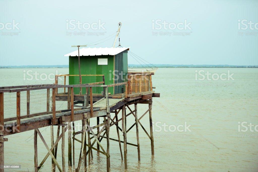 Carrelets de Gironde stock photo
