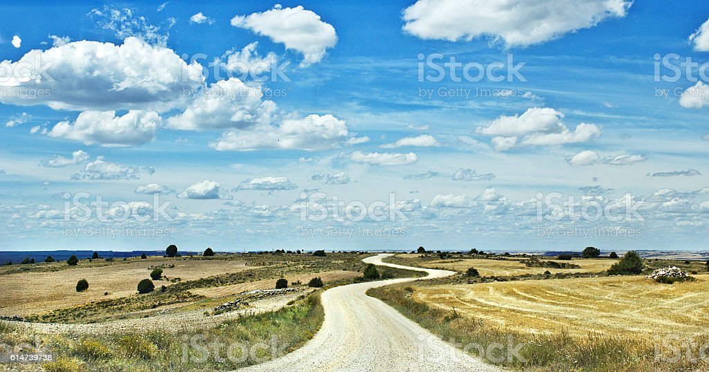 Carretera en S stock photo