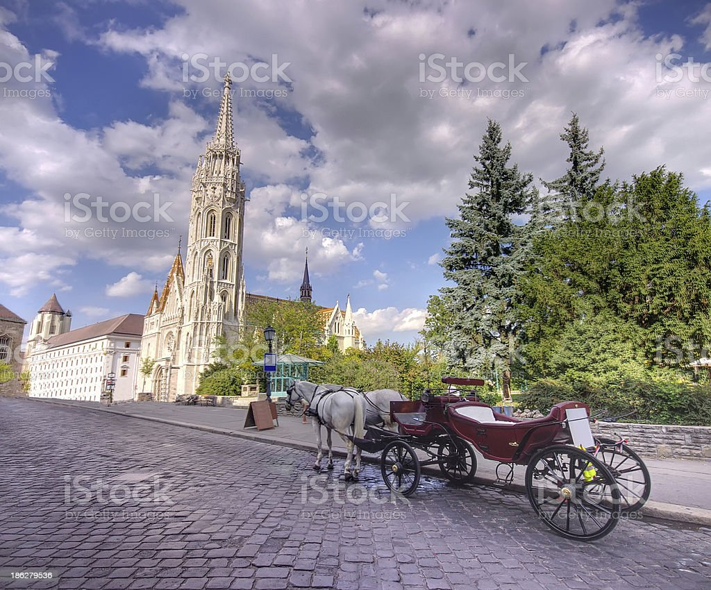 carriage in Budapest stock photo
