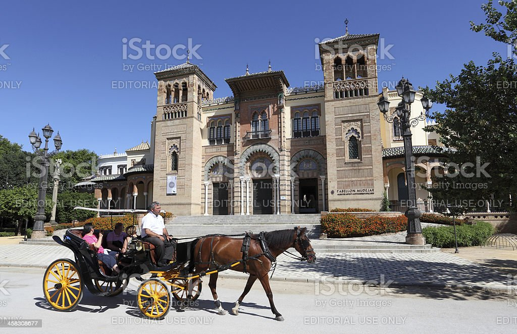 Carriage in Seville, Spain royalty-free stock photo