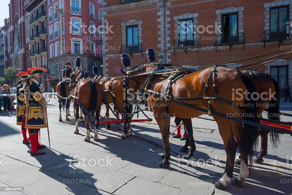 Carriage of the government of Spain stock photo