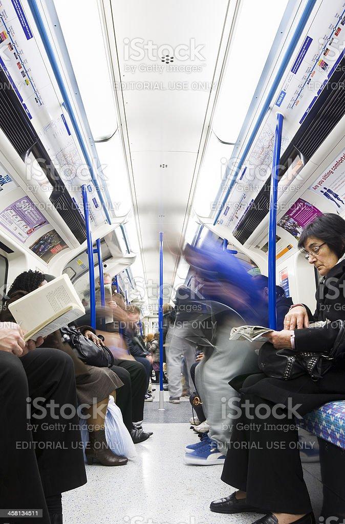 Carriage on London Underground royalty-free stock photo