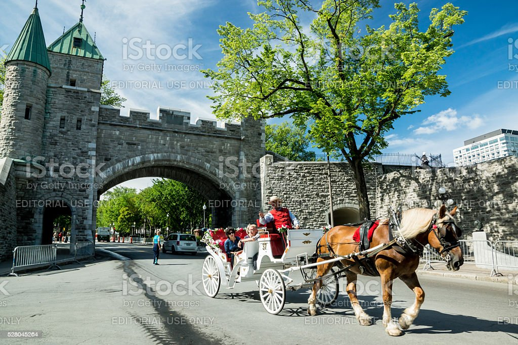 Carriage Trade in Old Quebec stock photo